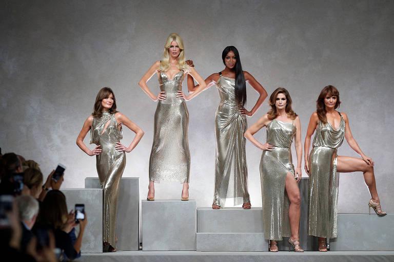 Versace Verão 2018 homenageia Gianni, seu fundador