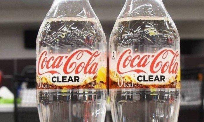 Coca-cola transparente? Sim, no Japão já existe.