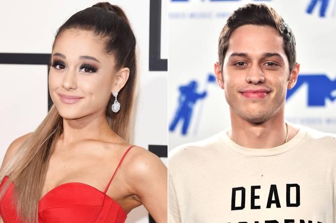 Cantora Ariana Grande fica noiva do comediante Pete Davidson