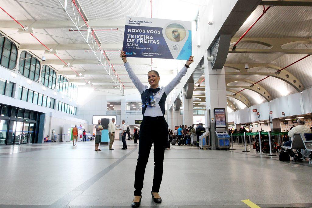 Novos vôos da Azul ligam Salvador a Teixeira de Freitas e a Maceió