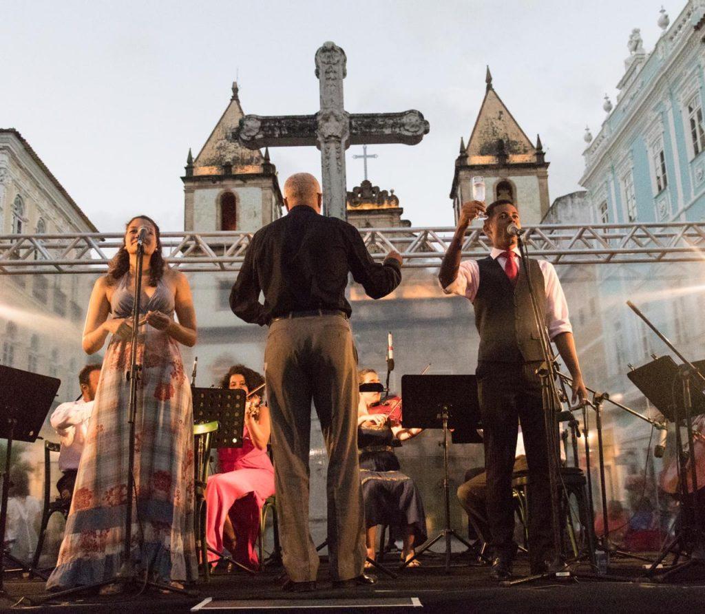 Canções e Àrias de Òpera ao ar livre no Pelourinho