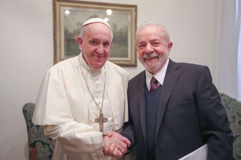 Lula é recebido pelo Papa Francisco e fala sobre Meio Ambiente de Desigualdade Social