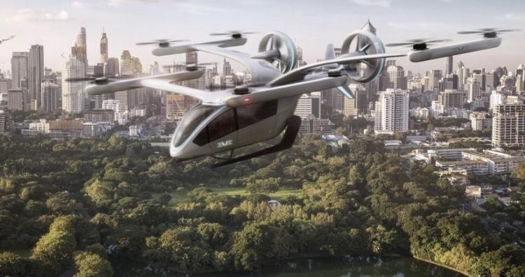 Embraer mostra primeiro carro voador elétrico