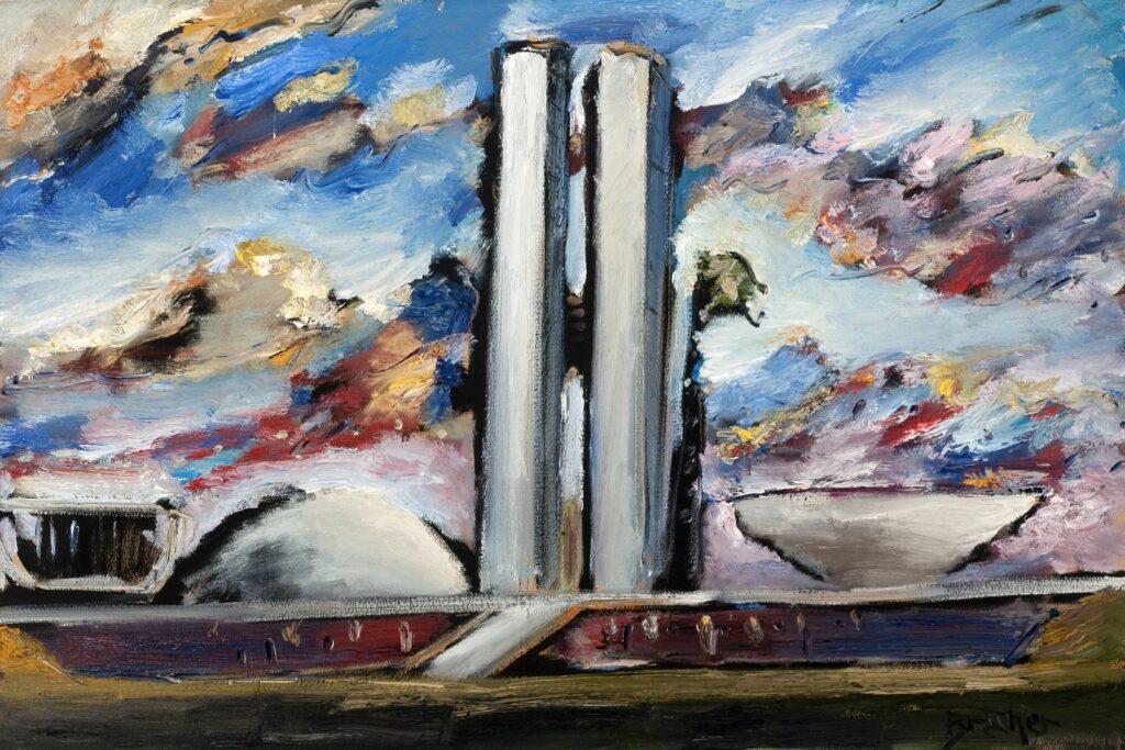 Pintor Carlos Bracher homenageia aniversário de 61 anos de Brasília