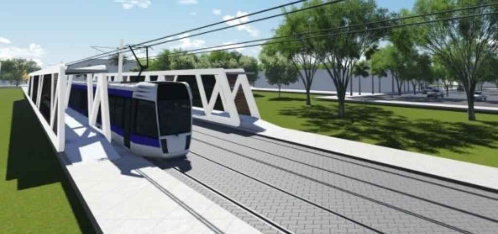 Primeiro trem do VLT do subúrbio está pronto e é apresentado pela China, por videoconferência