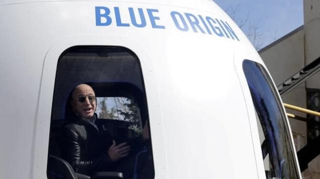 Jeff Bezos leiloa viagem ao espaço